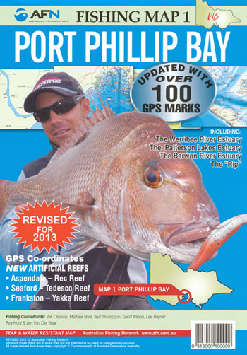 Port Phillip Bay Fishing Map 1 AFN