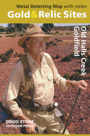 Old Halls Creek Goldfield Gold Relic Map