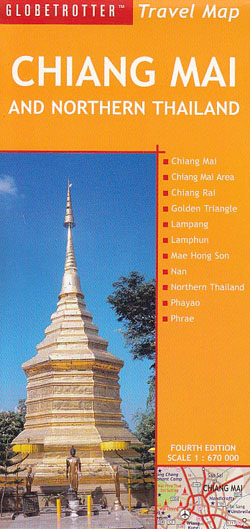 Chaing Mai and Northern Thailand Map Globetrotter