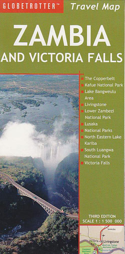 Zambia and Victoria Falls Map Globetrotter