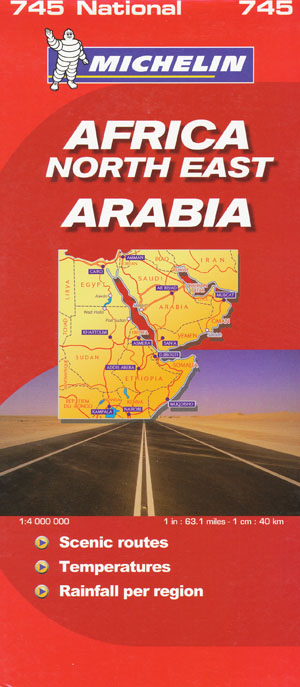 Africa North East Arabia Map 745 Michelin