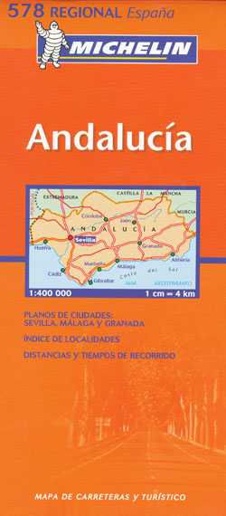 Andalucia Map 578 Michelin