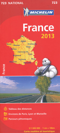 France Booklet 723 Michelin 2013