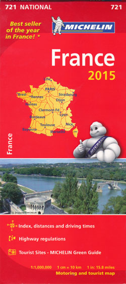 France Map 721 Michelin 2015