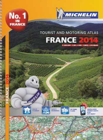France Tourist and Motoring Atlas Michelin 2014