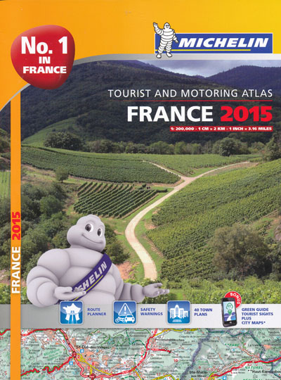 France Tourist and Motoring Atlas Michelin 2015 Spiral