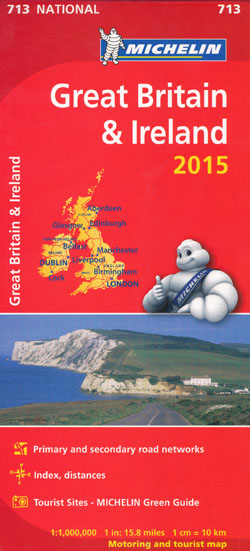 Great Britain and Ireland Map 713 Michelin 2015