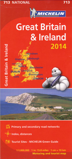 Great Britain and Ireland Map 713 Michelin