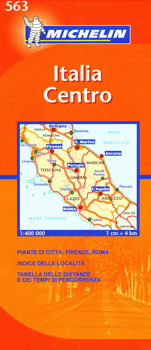 Italy Central (Tuscany) Map 563 Michelin