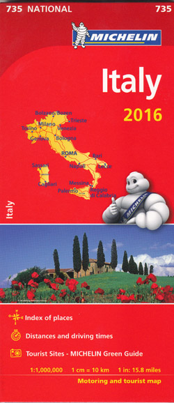 Italy Map 735 Michelin 2016