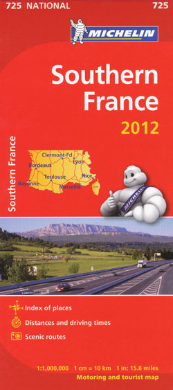 Southern France Map 725 Michelin 2012