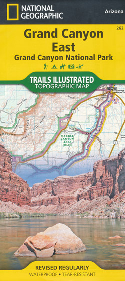 Grand Canyon East Map National Geographic Folded