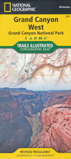 Grand Canyon West Map National Geographic Folded