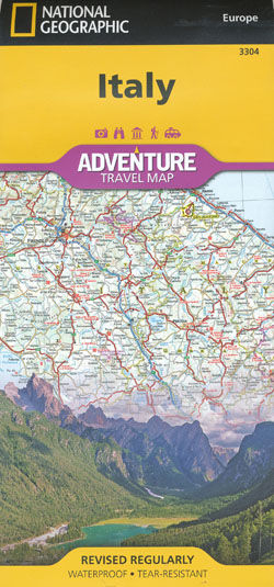 Italy Adventure Travel Map National Geographic Folded