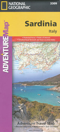 Sardinia Map National Geographic (Italy)