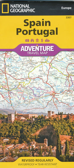 Spain Portugal Adventure Travel Map National Geographic