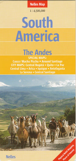 South America The Andes Map Nelles