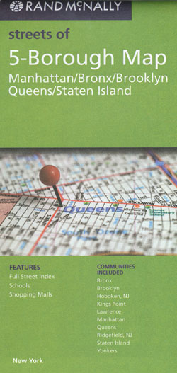5 Borough Map Rand McNally New York City