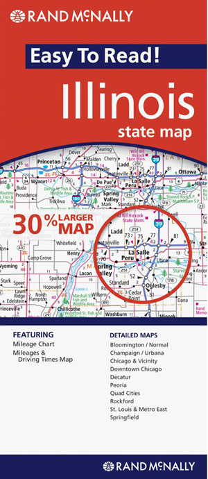 Illinois State Map Rand McNally