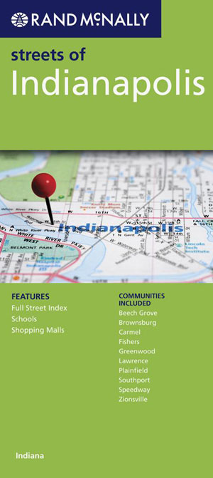 Indianapolis City Map Rand McNally