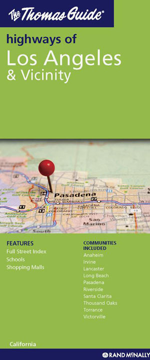 Los Angeles and Vicinity City Map Rand McNally