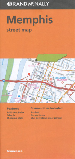 Memphis Map Rand McNally