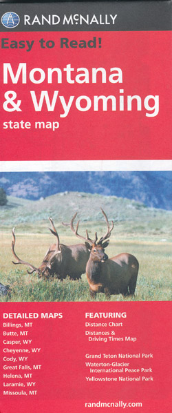 Montana Wyoming State Map Rand McNally