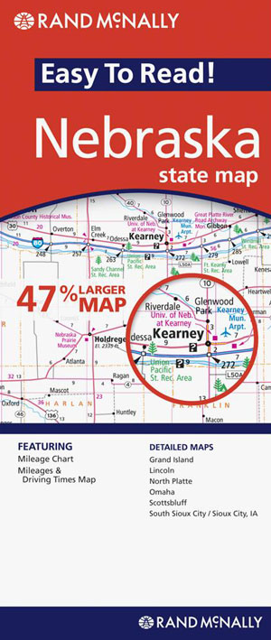 Nebraska State Map Rand McNally