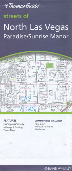 Las Vegas North City Map Rand McNally