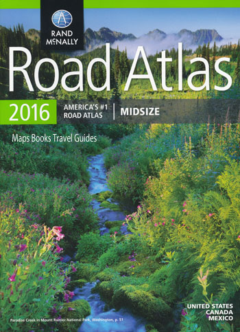 USA Road Atlas Mid Size 2016 Rand McNally
