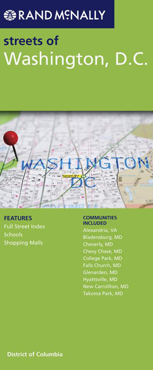 Washington DC City Map Rand McNally