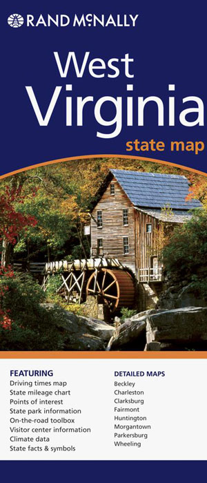 West Virginia State Map Rand McNally