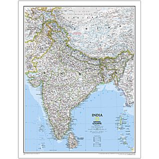 India National Geographic Paper Flat