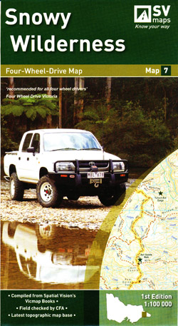 Snowy Wilderness 4WD Map 7 Spatial Vision Laminated