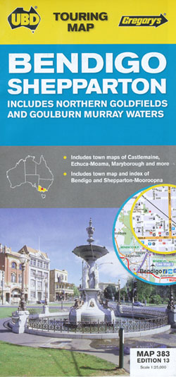 Bendigo Shepparton Map 383 Edition13 UBD Gregorys