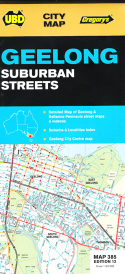 Geelong & Bellarine Peninsula 385 12th Edition UBD