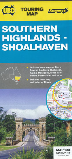 Southern Highlands Shoalhaven Map 283 Edition 12 UBD Gregorys