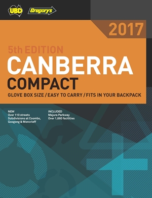 Canberra Compact Street Directory UBD Gregorys