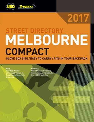 Melbourne Compact Street Directory UBD Gregorys