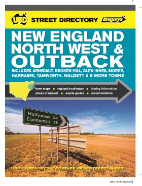 New England North West and Outback Street Directory UBD Gregorys