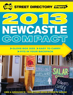 Newcastle Compact Street Directory UBD Gregory