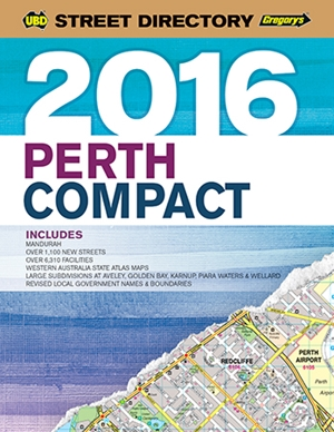 Perth Compact Street Directory UBD Gregory's