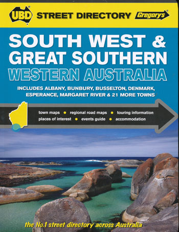 South West and Great Southern Western Australia Street Directory UBD Gregorys