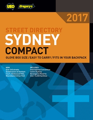 Sydney Compact Street Directory UBD Gregorys