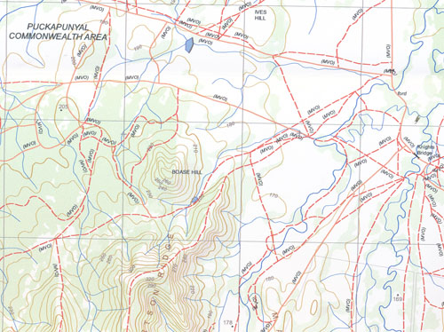Costerfield South 1-25,000 Vicmap