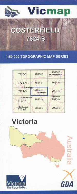 Costerfield 1-50,000 Vicmap