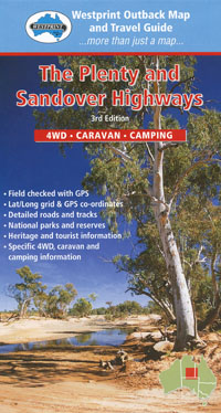 Plenty and Sandover Highways Map Westprint