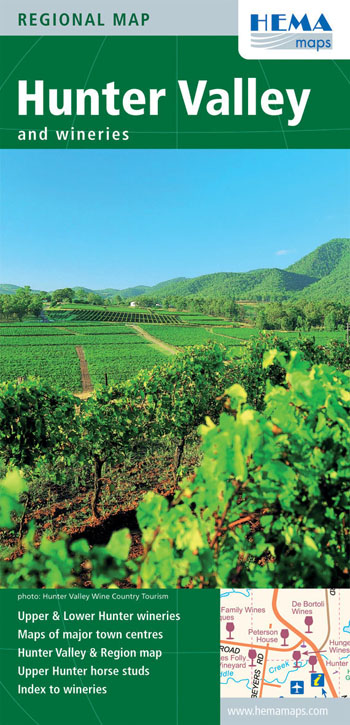 Hunter Valley and Wineries NSW Map Hema