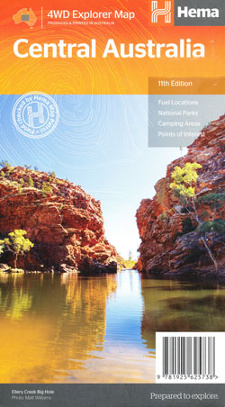 Central Australia Map Hema Ed 11