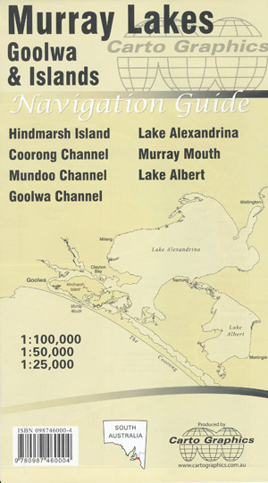 Murray Lakes Goolwa and Islands Map Carto Graphics